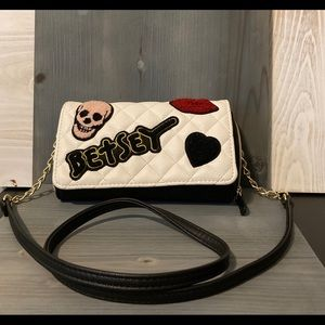 Betsey Johnson Rare Wallet with Patches